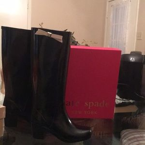 NEVER WORN 7 Kate Spade rubber boot with bow